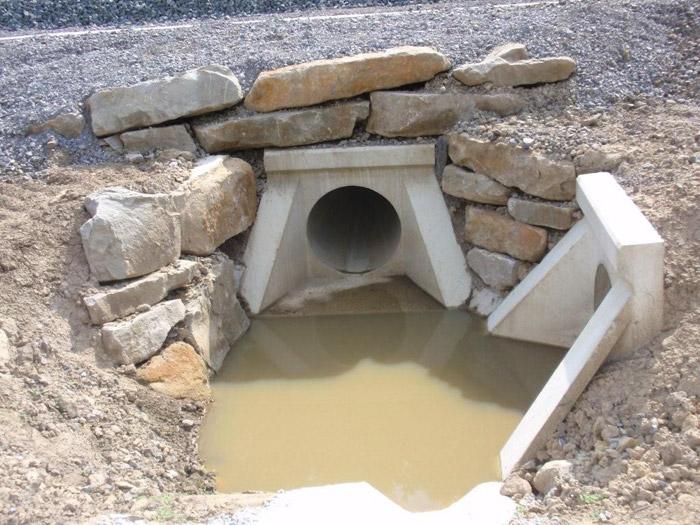 Culverts - Precast concrete fins  Prefabricados Alberdi