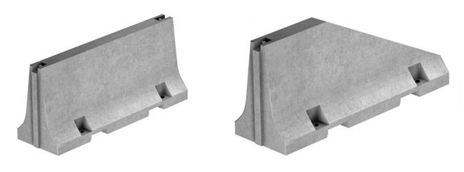 Glissières temporaires (New Yersey) - symétriques